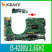 Send board+Q501LA Motherboard I5-4200U For ASUS Q501 Q501L Q501LA laptop Motherboard Q501LA Mainboard Q501LA Motherboard test OK