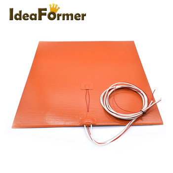 3D Printer Silicone Heating Pad Heater Hot Bed 220*220/235*235/300*300/310*310/400*400mm Heater Pad Can be customized sizes. image
