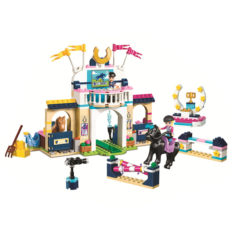 2019 Girl Series Toys Stephanie's Obstacle Course Compatible Legoingly Friends 41367 Building Blocks For Children Christmas Gift