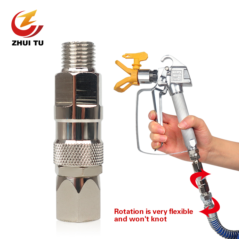 ZHUI TU Airless Spray Gun Hose Swivel Joint High Quality Universal Airless Sprayer High Pressure Pipe Connector Accessories