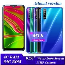 Gota de agua pantalla A71 Quad core 13MP 6,26