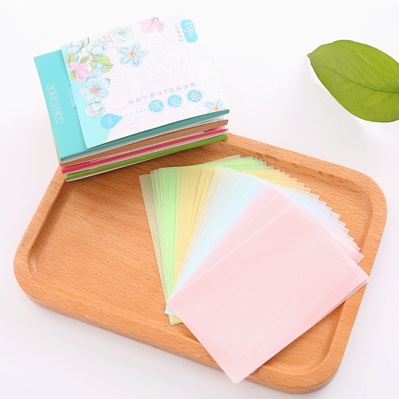 100Pcs/Set Face Oil Blotting Paper Protable Matting Face Wipes Facial Cleanser Oil Control Oil-absorbing Face Cleaning Tools New