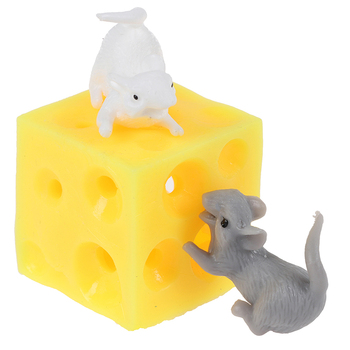 Mice and Cheese finger Squeeze Toys Stretchy Hide In Hole Block - discount item  30% OFF Stress Relief Toy