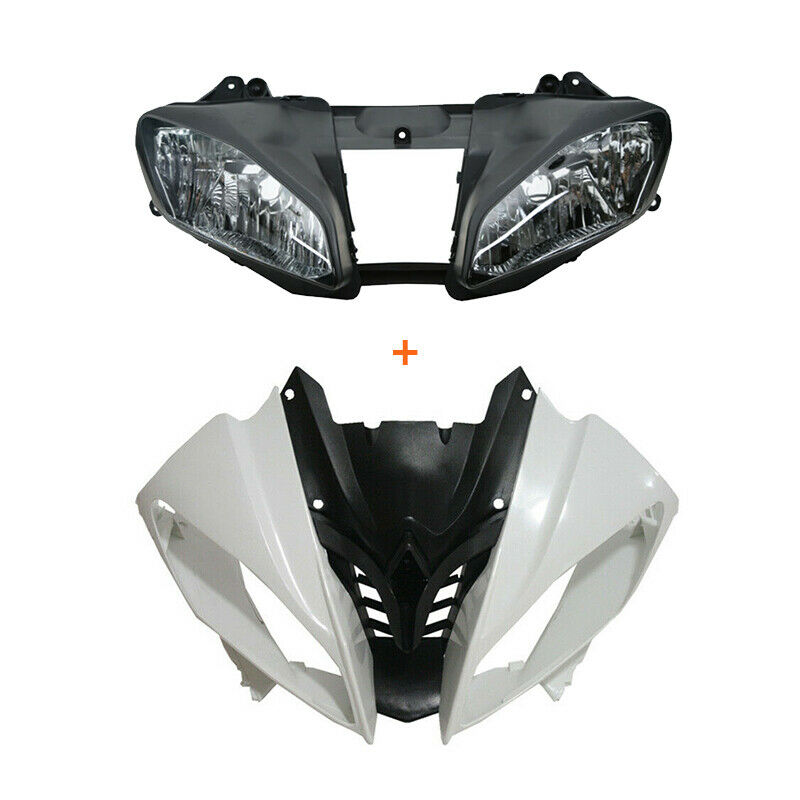 Motorcycle Unpainted Upper Front Fairing Cowl Nose Headlight For Yamaha YZF R6 2008-2016