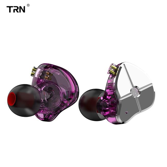 TRN ST1 1BA + 1DD Hybrid In Ear Oortelefoon DJ Monitor Running Sport Oortelefoon HIFI Metalen Headset Oordopjes KZZSN Pro CCACA4 NICEHCK DB3
