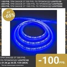 Светодиодная лента 12В, SMD3528, 5 м, IP68, 120 LED, 9.6 Вт/м, 6-7 Лм/1 LED, DC, СИНИЙ 883910