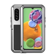 LOVE MEI กันกระแทกน้ำ Heavy เกราะโลหะสำหรับ Samsung Galaxy A51 A71 A20 A30 A40 A50 A70 A90 S a21 A41 A42 Coque