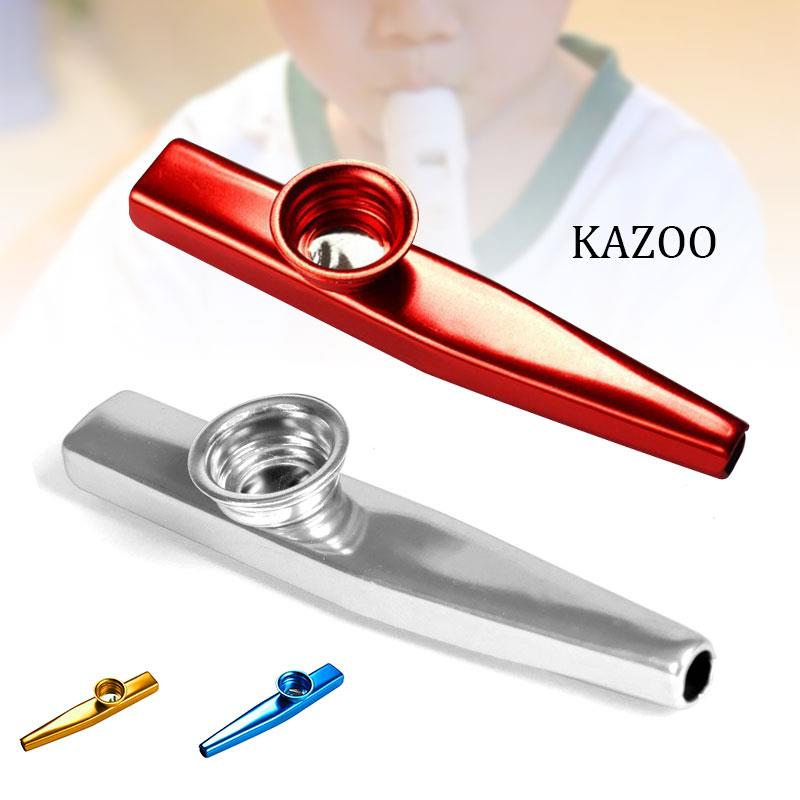 Convenient Alloy Aluminum Toy Starter Kazoo Guitar Instrume Teaching Gift Flute Adult Learner Simple image