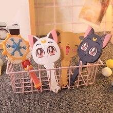 Милый Cardcaptor Sakura волшебная палочка сказочное зеркало для рук Kawai зеркало для макияжа с ручкой Luna Cat зеркало для девочек портативное аниме косплей