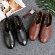 2019 peas shoes casual set foot metal buckle lattice canvas Fashion Flats mens soft driving Autumn men %2087