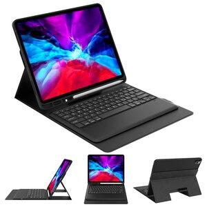 Image 2 - Para ipad pro 2020 11 12.9 caso de teclado com suporte de lápis tablet teclado bluetooth capa de couro para ipad pro 11 2020 teclado