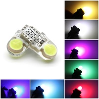 100PCS T10 W5W 194 192 168 White Blue Pink Yellow Red LED Car Interior Instrument Dash Light Side Wedge Silica Gel Bulbs