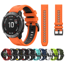 Easyfit Silicone Wrist strap For Garmin Fenix 6 Pro 5 Plus 22mm Quick Release watchband Fenix5 Fenix6 forerunner 945 Watch band