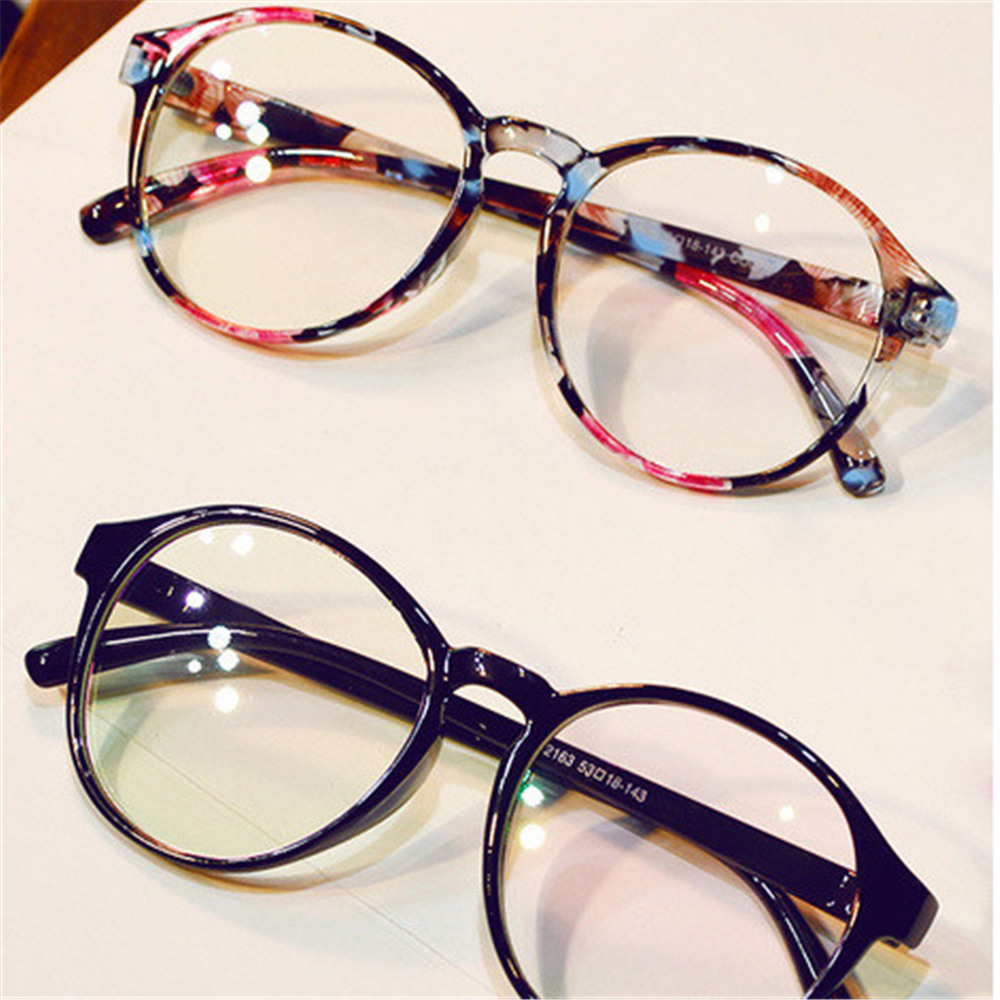 2020 Women Men Retro Round Transparent Lens Glasses Plastic Frame Optical Eyeglass Frame Spectacles Eyeglasses High Quality