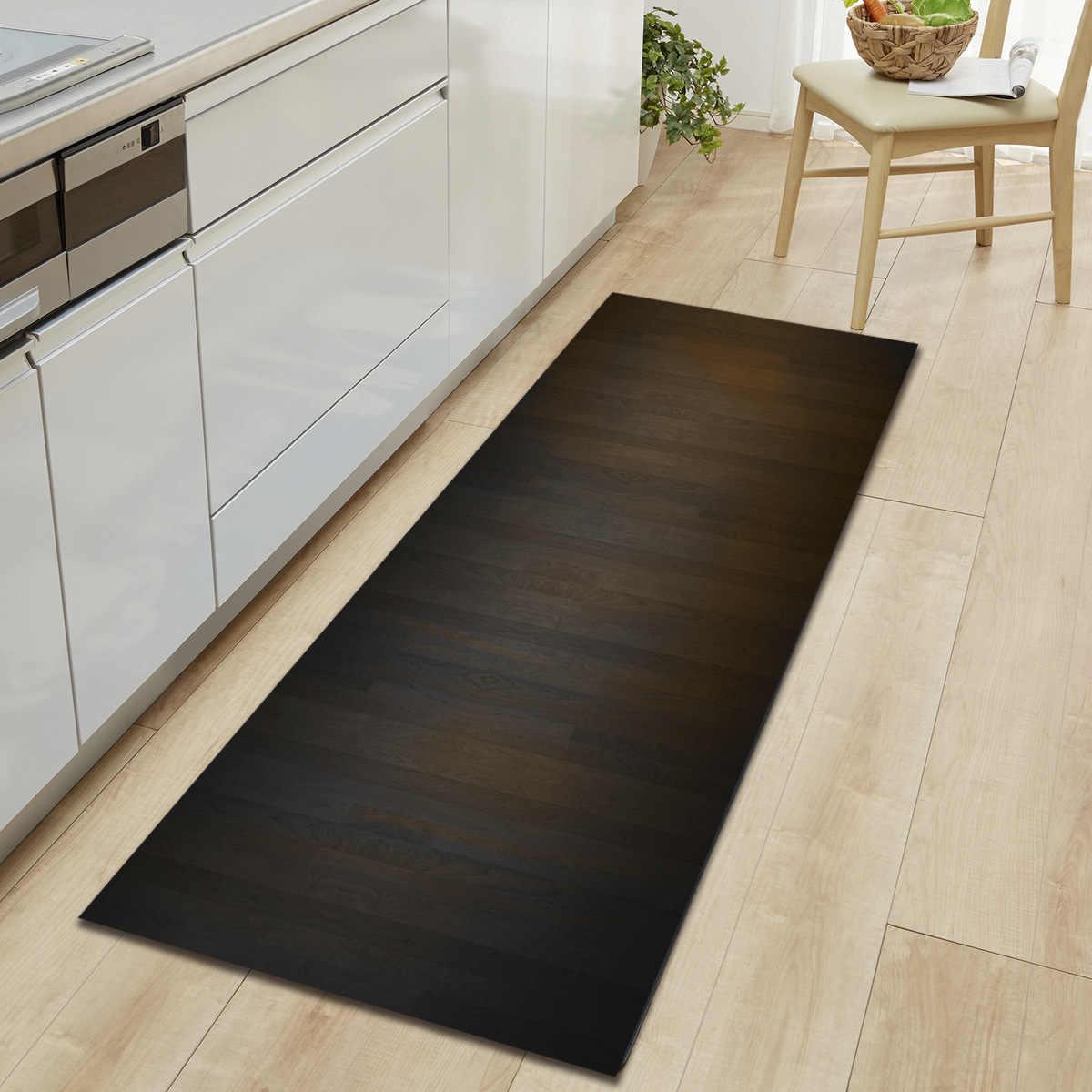 Long Striped Printed Floor Mats Microfiber 3D Carpet Memory Foam Kitchen  Mat Absorbent Doormat Oriental Home Decor Hallway Rugs