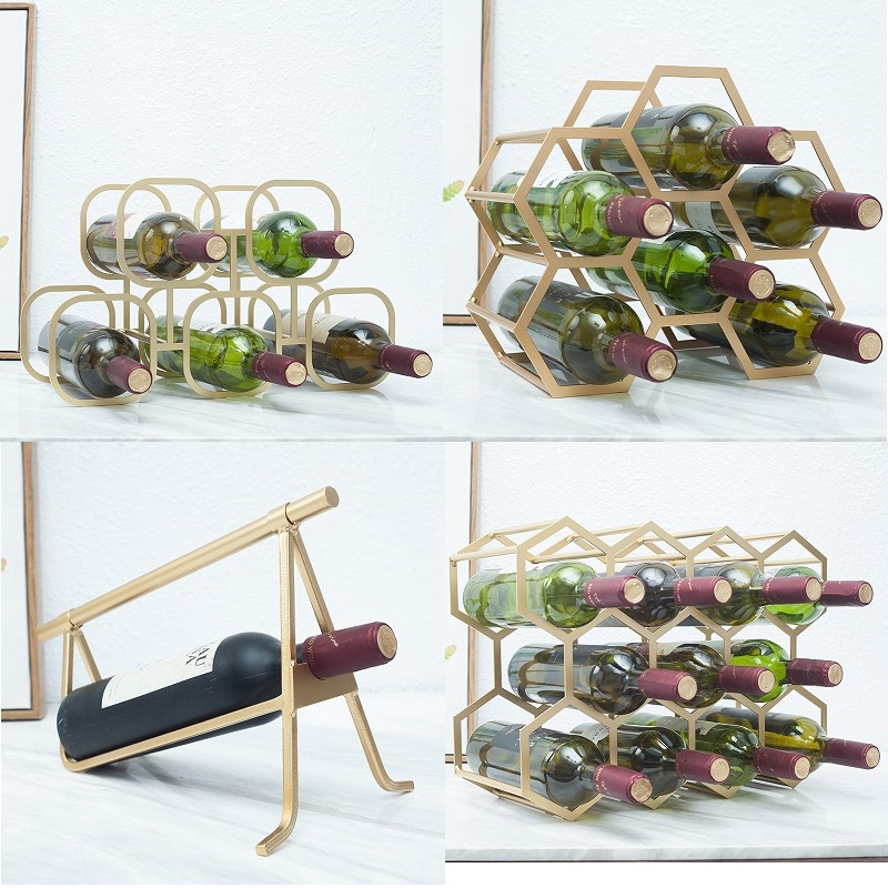 Nordic Creative Household Designer Villa Living Room Bedroom Model Room Decoration Grape Wine Rack Wine Cabinet Furnishings