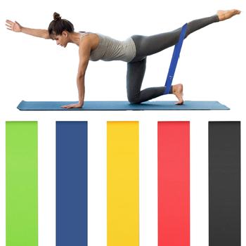 Siłownia taśmy oporowe lateksowe joga Crossfit opaski stretchowe mocna gumka domowa siłownia ćwiczenia treningowe sprzęt treningowy tanie i dobre opinie Unisex Ciało Ciągnąć liny 5 Level Resistance Bands workout fitness band fitness equipment for home gym latex resistance bands