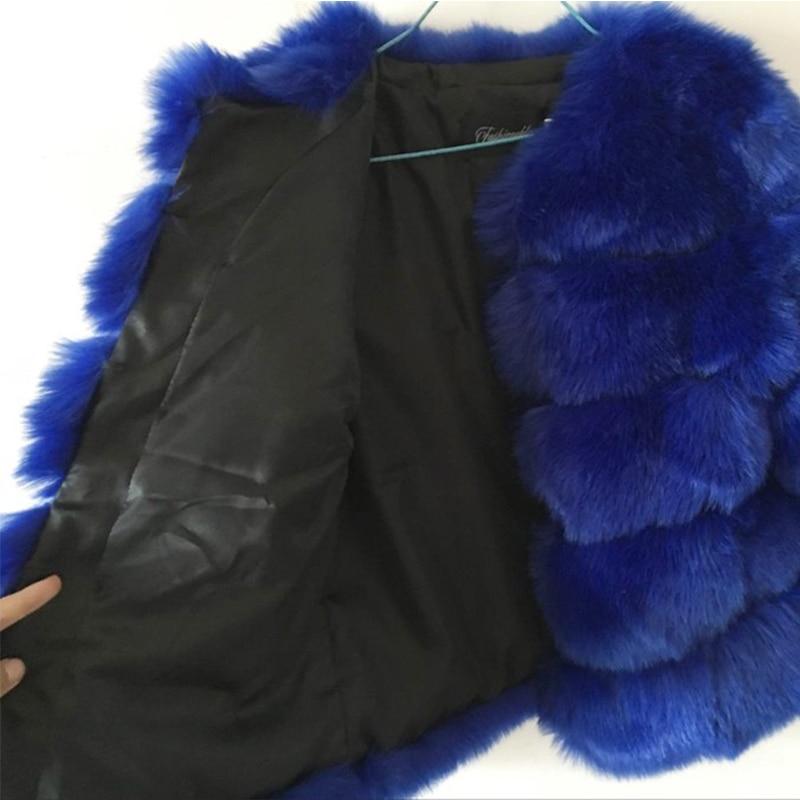 S-3XL Fox Γούνινο παλτό Γυναικεία 2019 - Γυναικείος ρουχισμός - Φωτογραφία 5