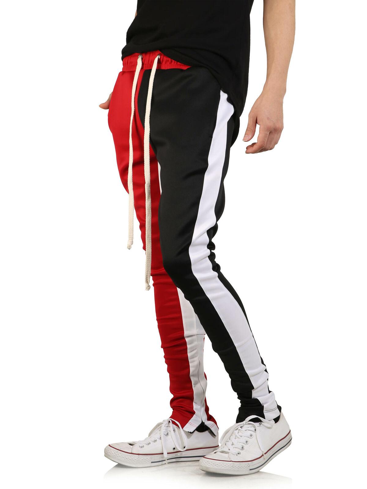 Loeay Pantalones causales para Hombres Hip Hop Streetwear Pantalones de ch/ándal de Bloque de Color Pantalones de Pana Pantalones de Patchwork de Cintura el/ástica Harem