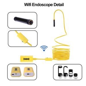 Image 2 - Câmera endoscópica wifi hd 1200p, mini cabo rígido à prova d água, câmera de inspeção de 2.0 megapixels 8mm 6led 12m/endoscópio usb de 3.5m//5m