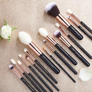 Image 5 - Jessup Beauty Up Kwasten Kit 15Pcs Natuurlijke Synthetisch Haar Pinceau Maquillage Mengen Poeder Liner Cosmetica Tool T222