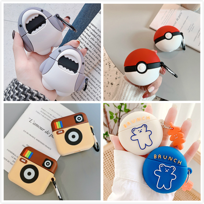 3D Earphone Case For Huawei Freebuds 3 Case Silicone Cute Toast Dog Cartoon Cover For Huawei Freebuds 3 Pro Cases With Keychain