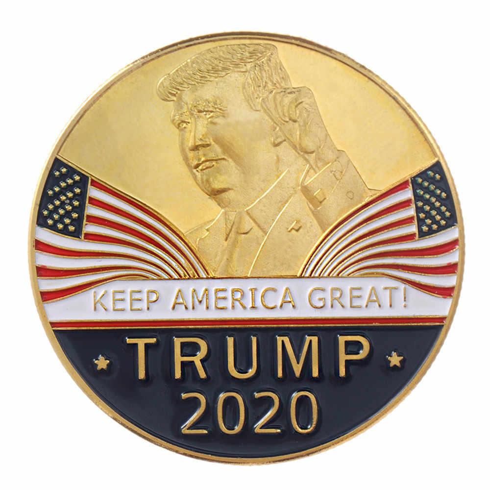 1 قطعة الجدة دونالد ترامب 2020 إبقاء أمريكا كبيرة التذكارية التحدي عملة النسر عملات جمع الديكور عملات الفن الحرف