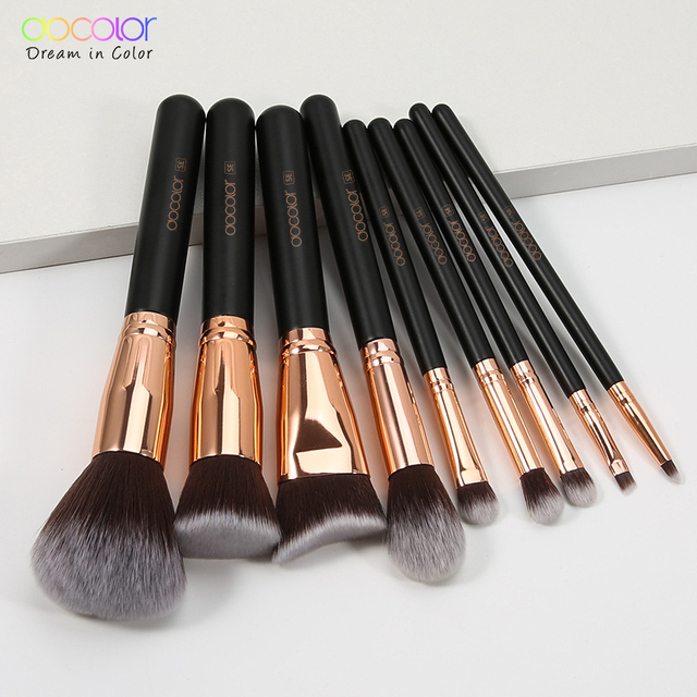 Docolor Makeup Brushes Set For Foundation Powder Blending Eyeshadow Eyebrow Make Up Brush Wood Handle Cosmetics Beauty Tools