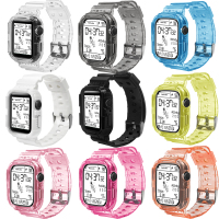 Silikon Kristall Klar Sport Armband, für Apple Uhr Band Serie SE6 5 44mm 42mm, ersatz Strap für iWatch 3 2 38mm 40mm
