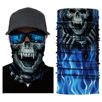 Ghost Skull Mask Motorcycle Biker Face Mask Balaclava Head Scarf Neck Masque Halloween Face Shield Mascara Riding Bandana Moto 3d seamless neck buff bandana face mask camouflage motorcycle ghost skull face halloween bandana scarves