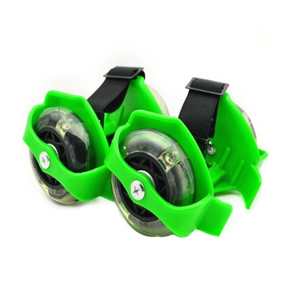 1 Pair Adjustable Skating Shoes Wheel 3 Colors Accessories Pulley Wear Resistant Elastic Whirlwind PVC Friction Flashing Roller