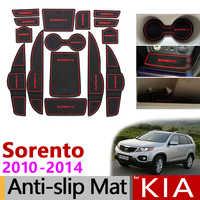 Posavasos de goma antideslizantes para KIA Sorento XM 2010 2011 2012 2013 2014 Kia Sorento R 2010-2014 accesorios adhesivos