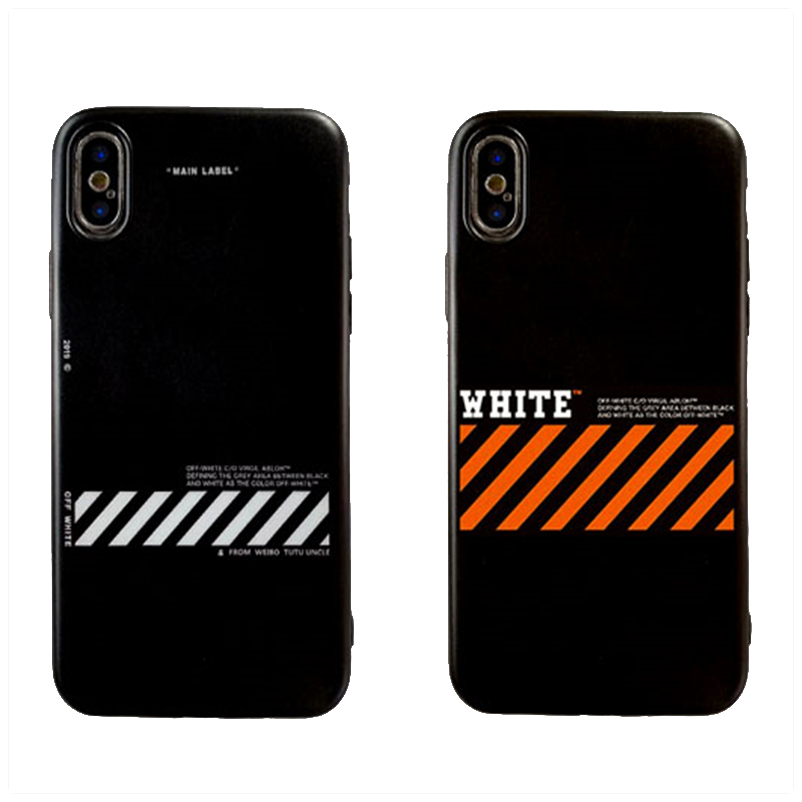 Soft TPU phone <font><b>Case</b></font> for <font><b>iPhone</b></font> 5 S SE X Phone Twill <font><b>Off</b></font> Ow Stripes shell For <font><b>iPhone</b></font> 6s <font><b>6</b></font> 7 8 Plus XS Max XR Coque <font><b>white</b></font> Fundas image