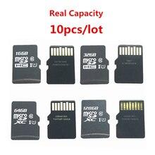 Акция! 10 шт./лот Micro 16 ГБ 32 ГБ 64 ГБ 128 ГБ Micro SDHC SDXC SD Card C10 U1 TF карта памяти