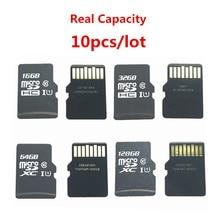Awans!!! 10 sztuk/partia Micro 16GB 32GB 64GB 128GB Micro SDHC SDXC karta SD C10 U1 TF karta pamięci