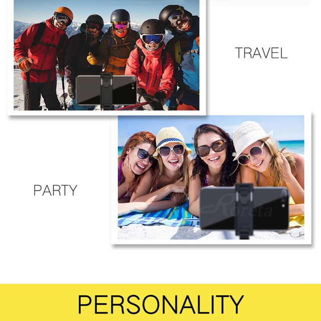 Roreta 3 in 1 Wireless Bluetooth Selfie Stick Foldable Mini Tripod Expandable Monopod with Remote Control for iPhone IOS Android 3