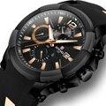 Топ мужские кварцевые наручные часы с резиновым ремешком спортивные часы с большим циферблатом светящиеся часы мужские водонепроницаемые ...