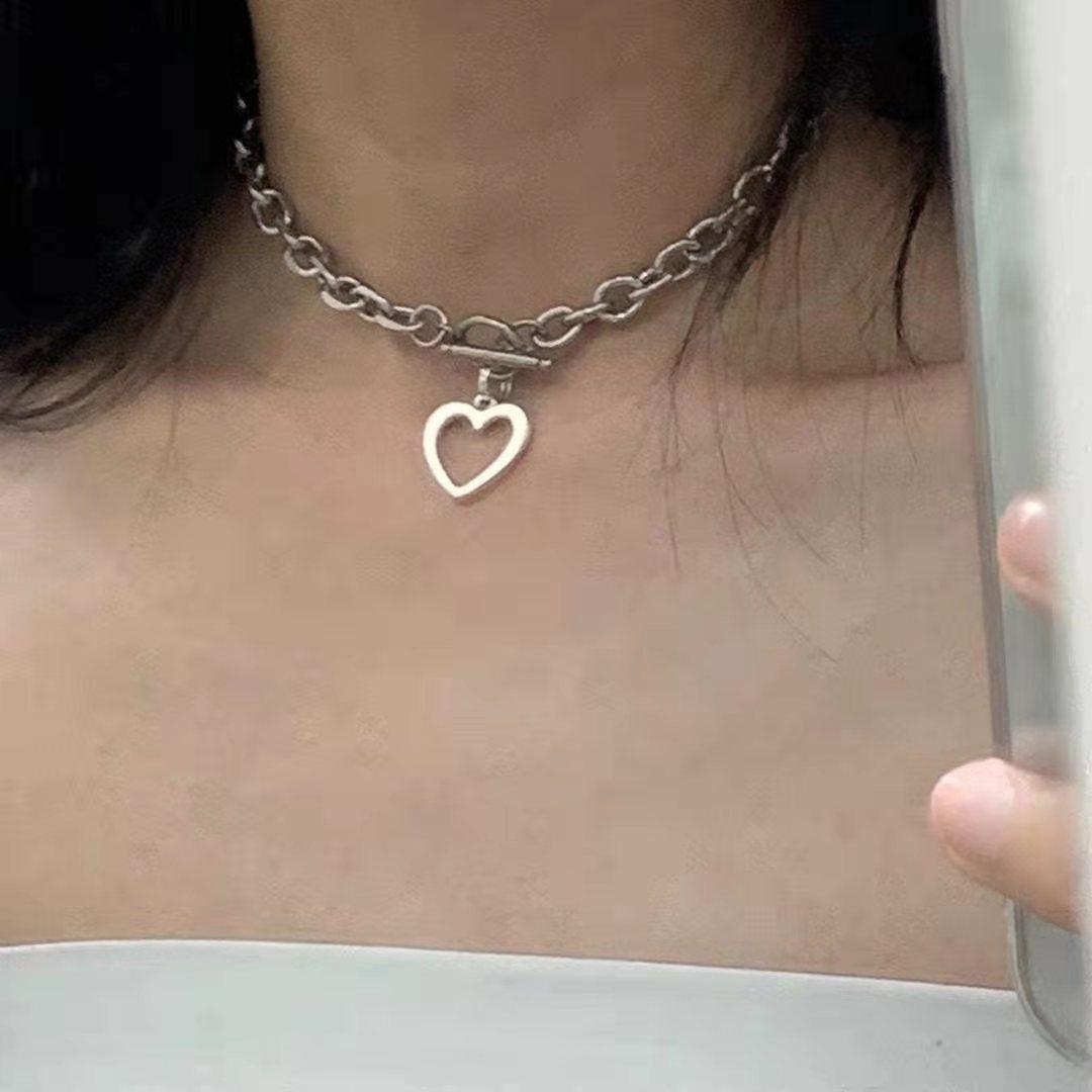 Популярное ожерелье для девочек 2020 Модное Новое ожерелье преувеличенная толстая цепочка хип-хоп веер любовь в форме сердца акриловое ожере...