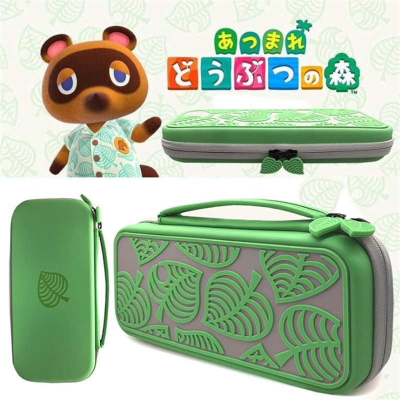 Hot Cartoon Cute Switch Storage Bag Animal Crossing Style Switch Lite Case Green Leaves