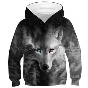 Image 5 - หมาป่า 3D พิมพ์เด็กชายหญิง Hoodies วัยรุ่นฤดูใบไม้ผลิฤดูใบไม้ร่วง Outerwear เด็ก Hooded Sweatshirt เสื้อผ้าเด็กแขนยาวเสื้อ