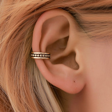 2019 new hot simple earrings for women retro creative hollowed-out wave ear clip fashion personality  bone