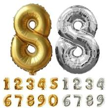 Ballons numériques arabes en Film aluminium de 16 pouces, or argent, 0-9, pour décoration de fête, utile et nouveau, à monter soi-même
