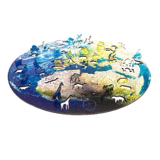 1000 Pieces Jigsaw Puzzles Educational Toy Scenery Kids For Adults Gifts Puzzle Round Space Stars Game Toys Earth Moon A3Y6 5