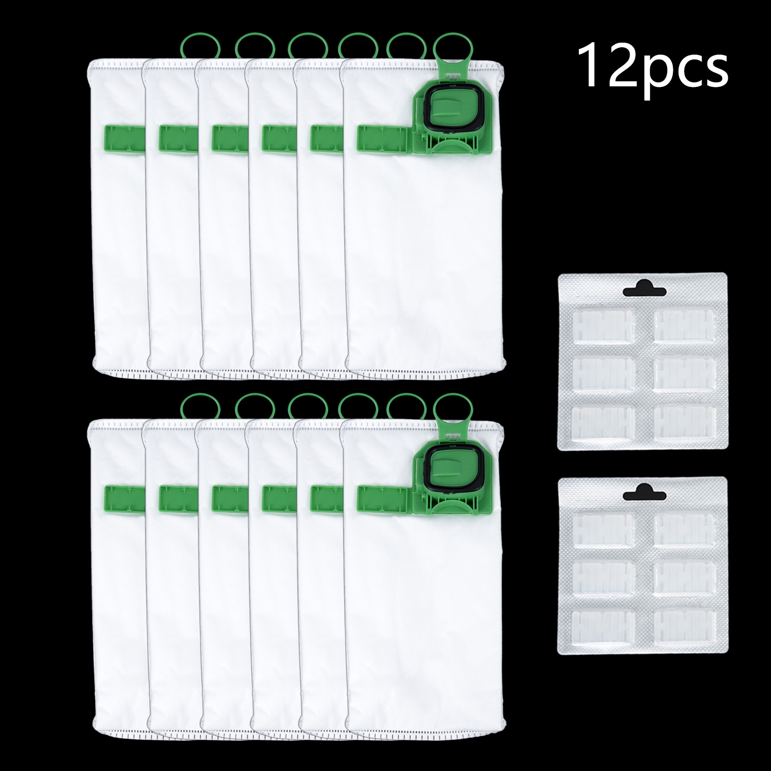 12pcs Vacuum Cleaner Bags Dust Bag For Vorwerk VK140 VK150 +Fragrance Sticks  Kit Accessories Durable And Practical To Use