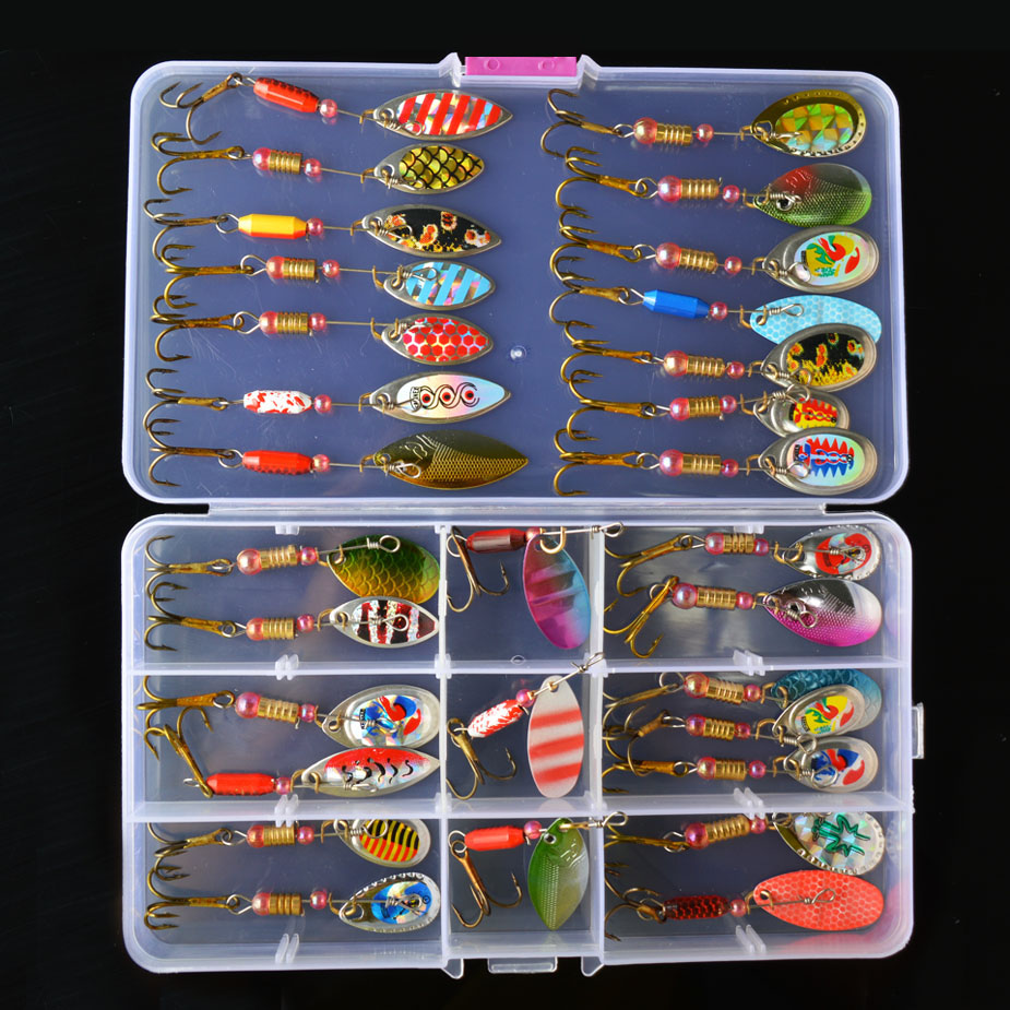 TOMA Spoon Lure Set Spinner Bait 2-7g Trout Pike Metal Fishing Lures Kit Crankbait Fresh/Salt Water Isca Artificial Hard Bait