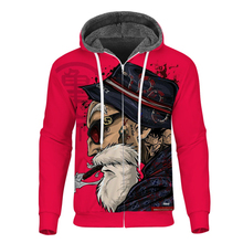 Cloudstyle Winter Mens Fleece Zipper Hoodie 3D Dragon Ball Red Anime Oogway Tees Master Roshi Thick Coat Streetwear