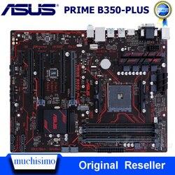 Разъем AM4 DDR4 Материнская плата ASUS PRIME B350-PLUS системная плата AMD B350 DDR4 64 Гб PCI-E 3,0 USB3.1 M.2 оригинальный рабочего используется DDR4