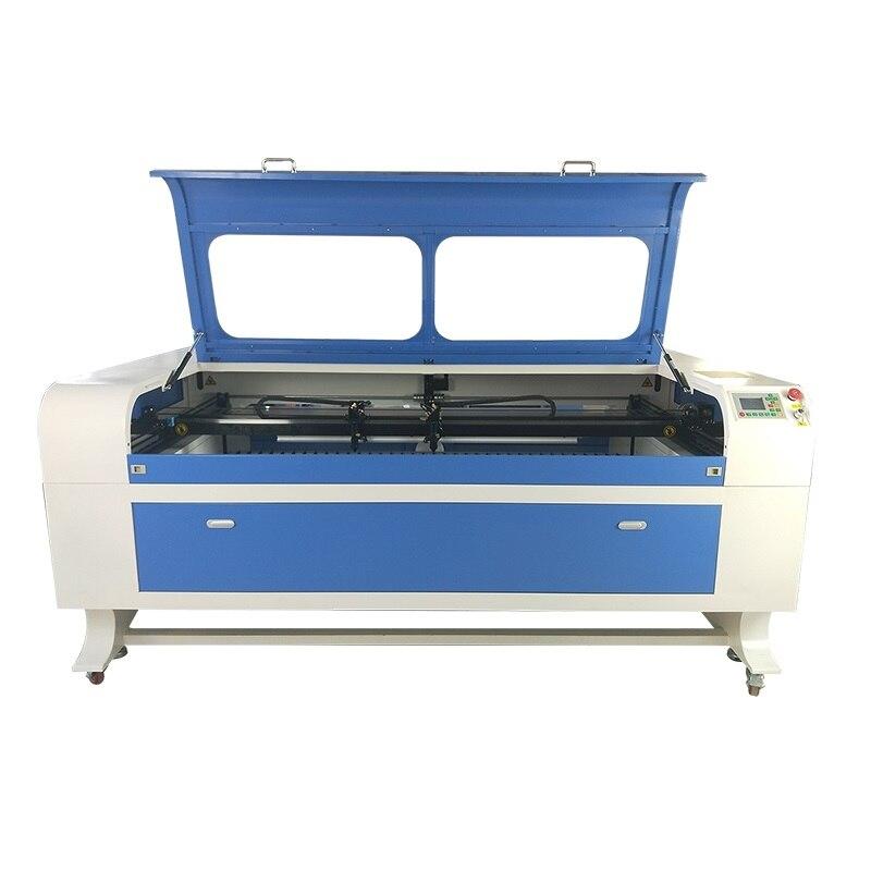 2 Head 1610 1810 1812 Co2  Laser Cutting Machine For Leather  Acrylic  MDF  Plexiglass  Plywood  Fabric  Wood  Plastic