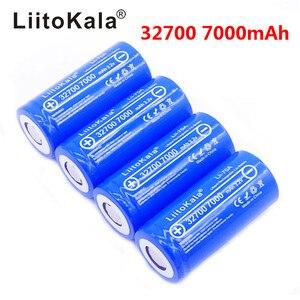 4pcs LiitoKala lii-70A 3.2V 32700 6500mAh LiFePO4 Battery 35A Continuous Discharge Maximum 55A High power battery 32700 7000