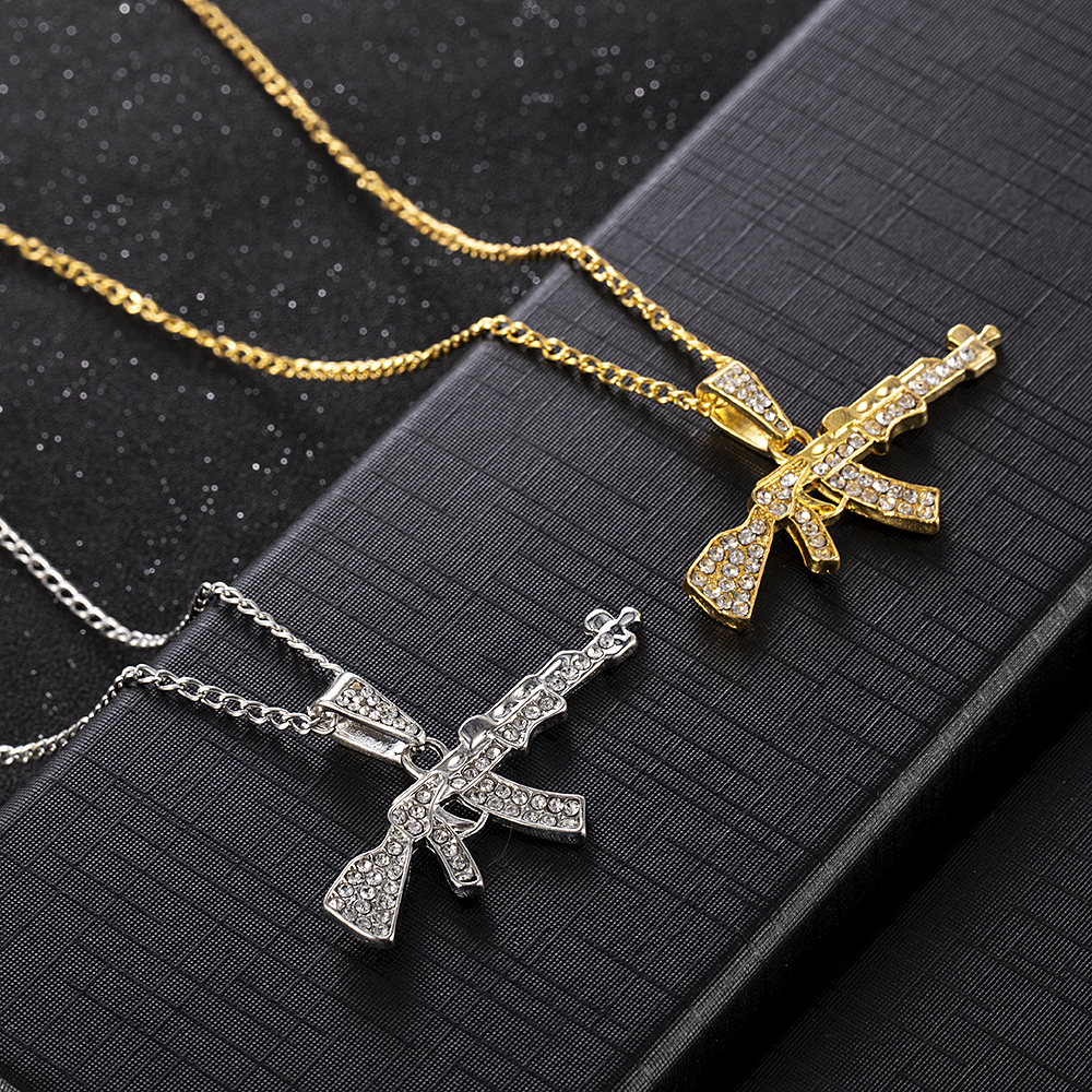 Handmade Crystal Cross Women Men Unisex Necklace Pendant Chains Jewelry Party